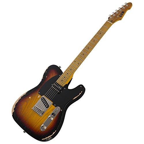 ESP LTD TE-254 Distressed 3TB Electric Guitar Bundle w/Cleaning Cloth and Hard C