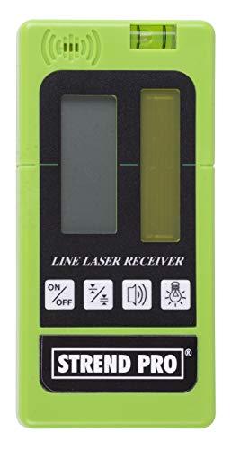 Laser empfänger für laser, Digital LED laserdetektor für grüne und rote rotationslaser, PULZMODE - Arbeiten im Freien 50-60m, Inkl. Klemmhalter