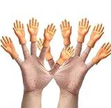 Yolococa Tiny Hands Manos Pequeñas Títeres de Dedos con Las Manos Izquierda y Derecha Trucos Divertidos para el Juego Fiesta 10 Pieces