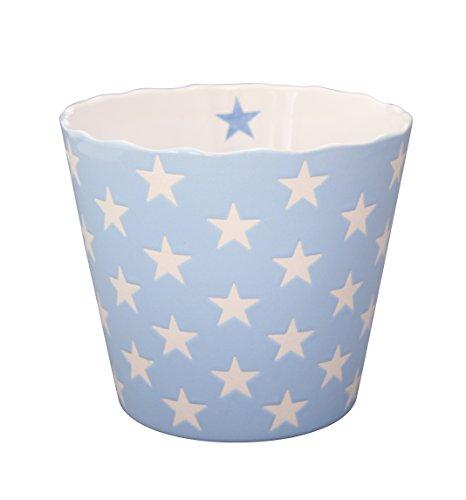 Krasilnikoff Schale Happy Bowl groß, blau mit Sternen