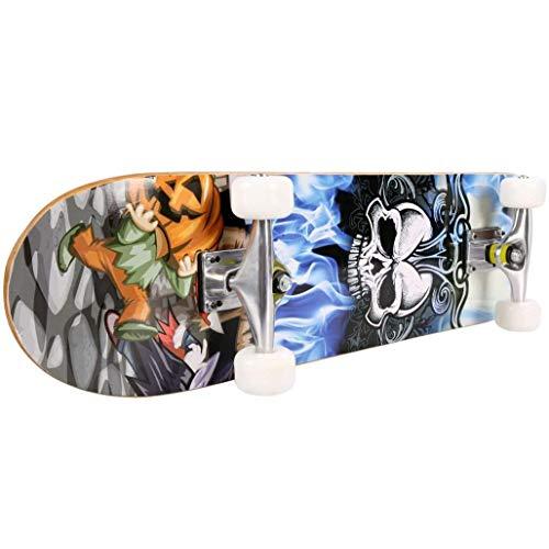 ZEH Skateboard 7 Schichten Decks komplett Skateboarddecks Ahorn-Holz Longboards for Teens Erwachsene Anfänger Mädchen Jungen Kinder for Teens Anfänger Mädchen Jungen Kinder Erwachsene FACAI