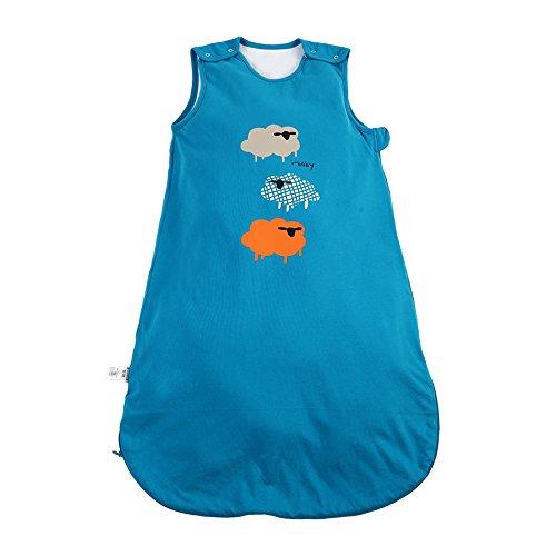 i-baby Sacos de Dormir Infatiles Bebé Niños Niñas Sin Mangas Bolsas de Dormir Suenos para Recién Nacido Pijama Mantas de Algodón Recubierto con Cremallera para 1 2 3 años Azul Dibujos Animados 3 TOG