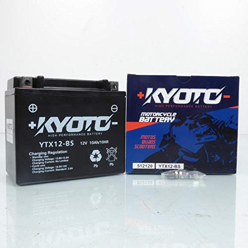 Kyoto - Batteria per moto Kawasaki 650 Er-6N senza Abs 2006-2011 YTX12-BS SLA / 12V 10Ah