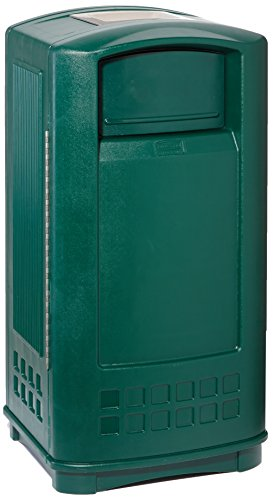 Rubbermaid Commercial Products 35 gal 132 Litre Plaza Jr Container with Ash Tray Top - Dark Green