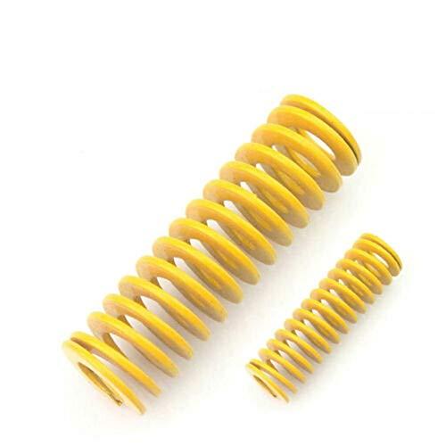 XBF-TOOL, X-Baofu, Cargar 2pcs Larga Amarilla Luz Estampación Molde de la compresión Die Muelle Exterior de 12mm de diámetro Interior de 6 mm Longitud Dia 20-65mm (tamaño : 12 x 6 x 45mm)