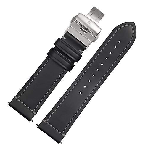 Victorinox Uhrenarmband 23mm Leder Schwarz - 002101.1