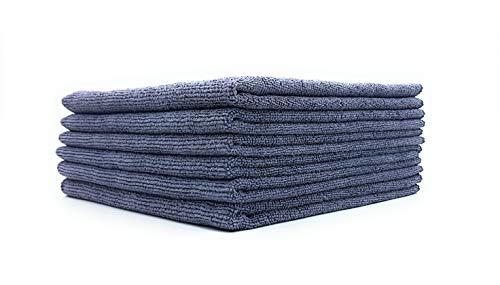 SellerKing® 6 Microfasertücher grau/anthrazit. Mikrofaser Reinigungstücher. Putzlappen Küche fusselfrei Microfaser Tücher saugstark und schnell trocknend. 40x40 cm