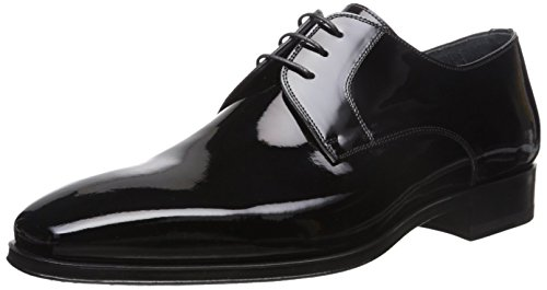 Magnanni Men's Dante Tuxedo Oxford, Black Patent, 9.5 W US