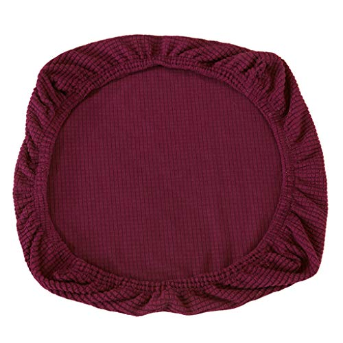 FLAMEER Fundas de Silla Cubierta de Asiento Protectora Elásticas Extraíble Lavable Cubre Silla para Comedor - Morado Oscuro