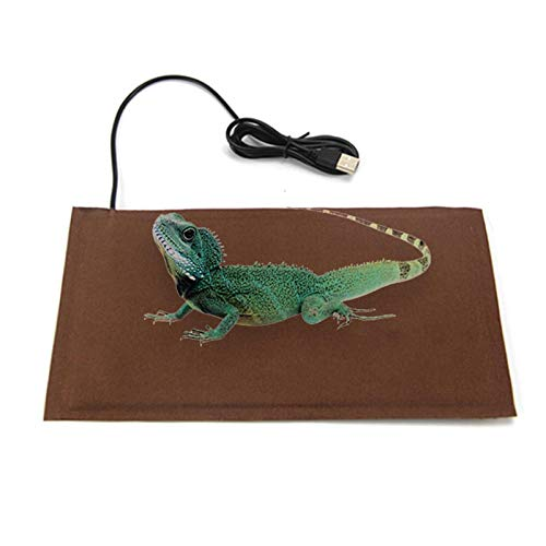 Alfombrilla Térmica para Reptiles Alfombrilla Térmica para Reptiles Anfibios Y Animales Pequeños Control De Temperatura Pieza De Calor para Mascotas Lagarto Hámster Manta Anti-aplastamiento para USB