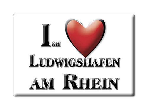 Enjoymagnets LUDWIGSHAFEN AM RHEIN (RP) Souvenir Deutschland Rheinland Pfalz Fridge Magnet KÜHLSCHRANK Magnet ICH Liebe I Love