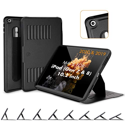 ZUGU CASE (New Model) Muse Case for iPad 10.2 Inch (2020/2019) Protective, Thin, Magnetic Stand, Sleep/Wake Cover - Black - (Fits Model #s A2197 / A2198 / A2200 / ​A2270​ / ​A2428 / ​A2429 / A2430​)