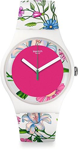 Swatch Reloj Analógico de Cuarzo para Mujer con Correa de Plástico – SUOW127