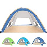 KEUMER Venustas Large Pop Up Beach Tent Automatic Sun...
