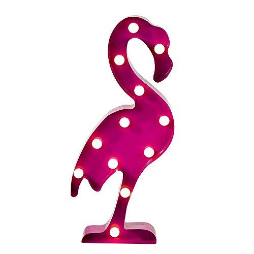 Talking Tables Fiesta; metalen flamingo-tafellamp als decoratie thuis of voor tropische feesten en verjaardagsfeestjes, roze