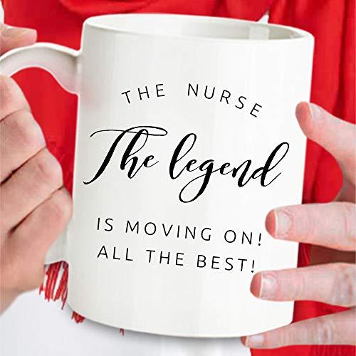 DKISEE Regalos de despedida de enfermera, regalos de enfermera, regalos de enfermera, regalos de despedida de enfermera, tazas de despedida de enfermera, tazas de enfermera, tazas grandes de 4