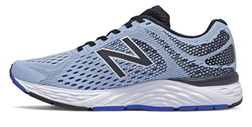 New Balance Women's 680 V6 Frost/Cobalt Running Shoe 10.5 B US