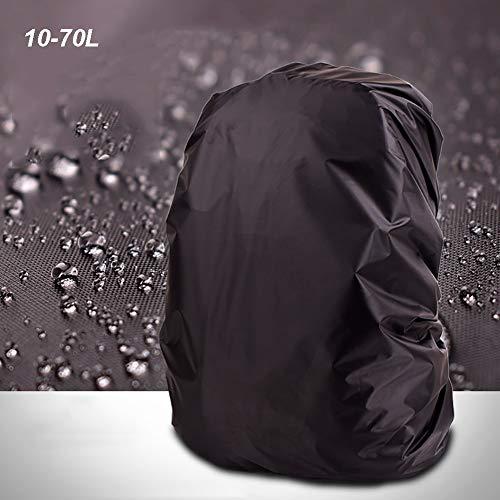 YMYP08 zwarte rugzak Cover, 10-70L, waterdichte beschermhoes, multifunctionele rugzak tas, gemakkelijk te dragen