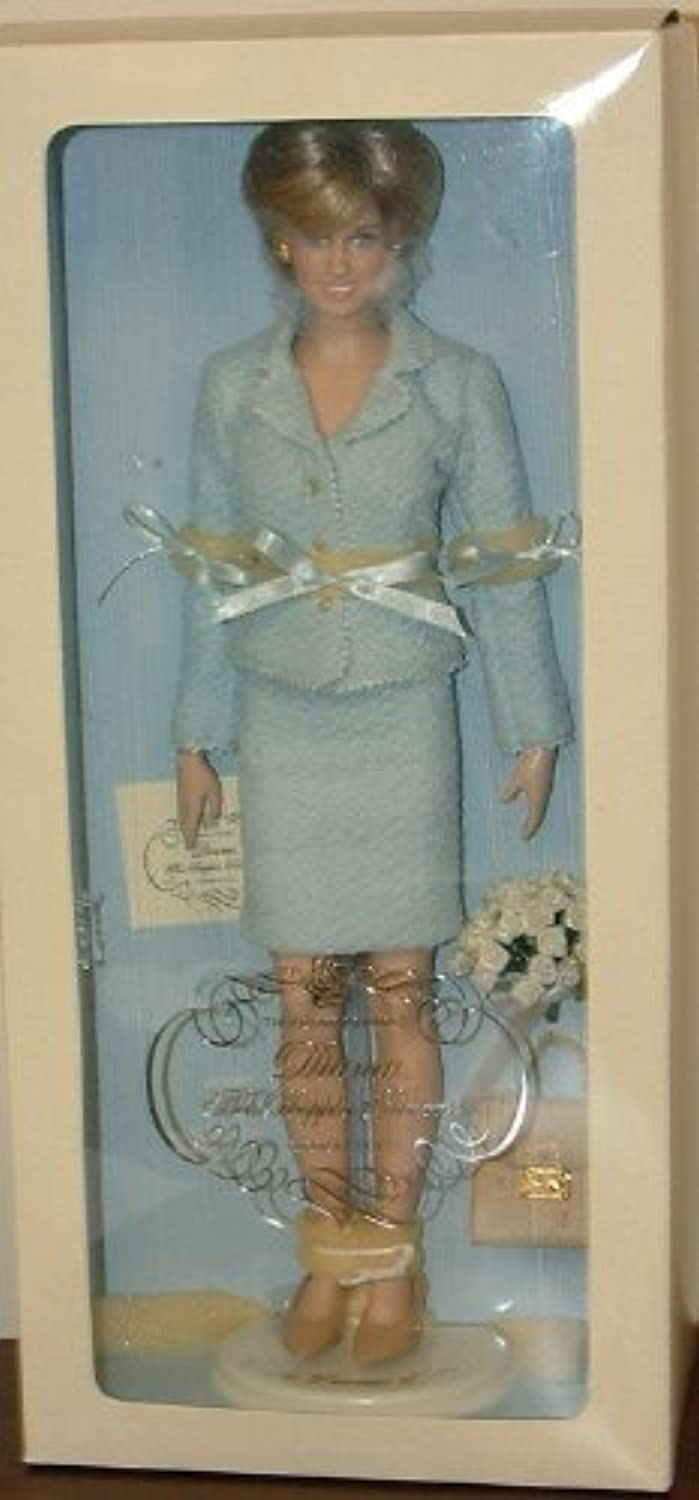 Franklin Mint Diana the People 's Princess Portrait Doll with Blau folgt by Franklin Mint