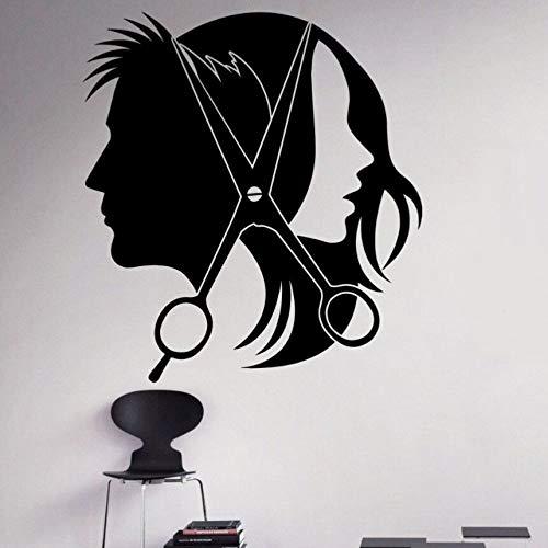 Yaonuli Vinyl sticker afneembare kapsalon kapsalon wandtattoos kapsalon decoratie behang design muurschildering
