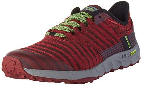 Brooks Mens PureGrit 8 Running Shoe, Biking Red/Red/Nightlife, 42.5 EU