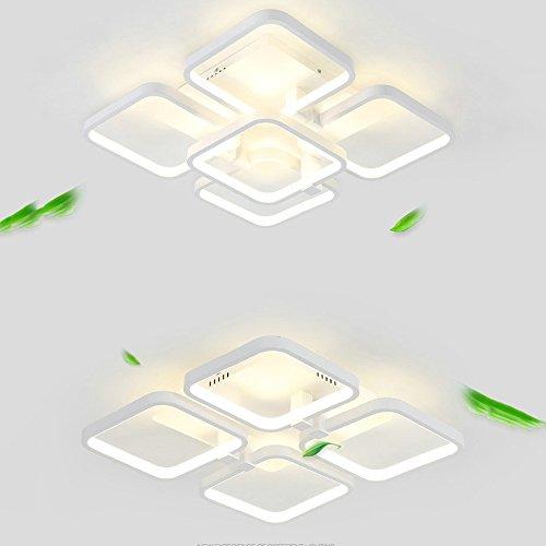 LXSEHN LED8026 Plafond Lumière Salle D'étude Luminaire Moderne Simple Caractère Grand Carré Treillis Chambre Lumière Salle D'étude Lumière Lampe d'éclairage de plafonnier Lanternes ( Couleur : Lumière neutre-4/45*45cm )