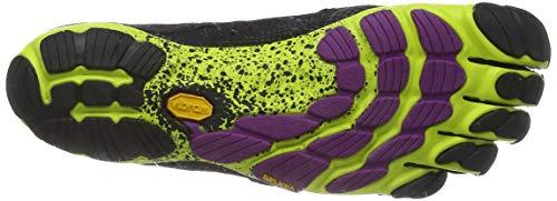 Vibram FiveFingers Women's 16w3105 V-run 38 Running Shoes, Multicolored Black Yellow Purple, 5 UK
