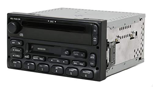 Ford Truck and Van Radio 1999-2010 AM FM Cassette CD Player Part 1F2F-18C868-AA (Renewed)
