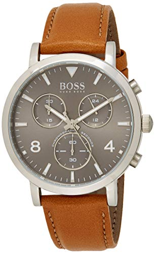 Hugo Boss Reloj Cronógrafo para Hombre de Cuarzo con Correa en Cuero 1513691