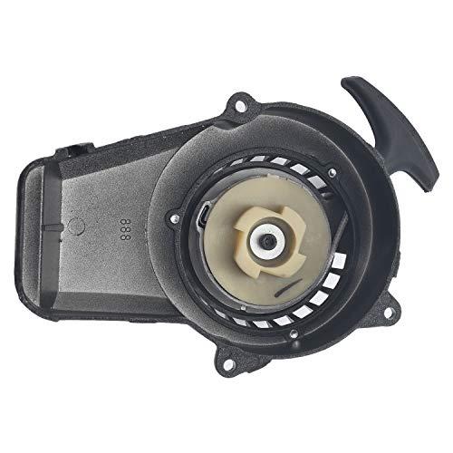 Necaces Pull Start Easy Recoil Starter for 2 Stroke Engine 47cc 49cc Dirt Bike Pocket Bike Mini ATV(black)