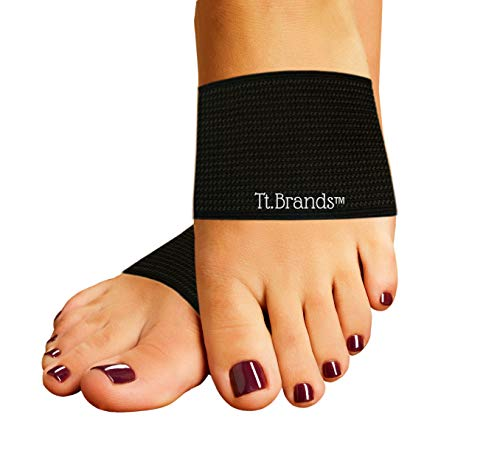 Compression Copper Arch Support Sleeves! 2-Plantar Fasciitis Bands-Support Arch! Imagine Relief for Sore Arches, Flat Feet, Low Arches, High Arches, Heel Pain, Highest Copper!