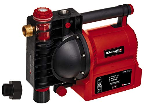 Einhell Hauswasserautomat GE-AW 1042 FS (1.050 W, 4200 L/h Fördermenge, 4.8 bar Förderdruck, Wasserfüll-/Schmutz-/Sauganzeige, Trockenlaufsicherung, Flow-Sensor, Thermo-/Brühschutz, Rückschlagventil)