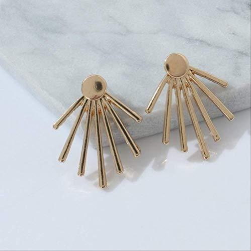 Oorbel bengelen sieraden holle bloem Stud voor vrouwen mannen Lovers 'Gifte0221gold