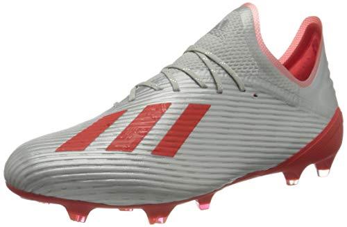 adidas Herren X 19.1 Fg Fußballschuhe, Silber (Silver Met./Hi/Res Red S18/Ftwr White Silver Met./Hi/Res Red S18/Ftwr White), 45 1/3 EU