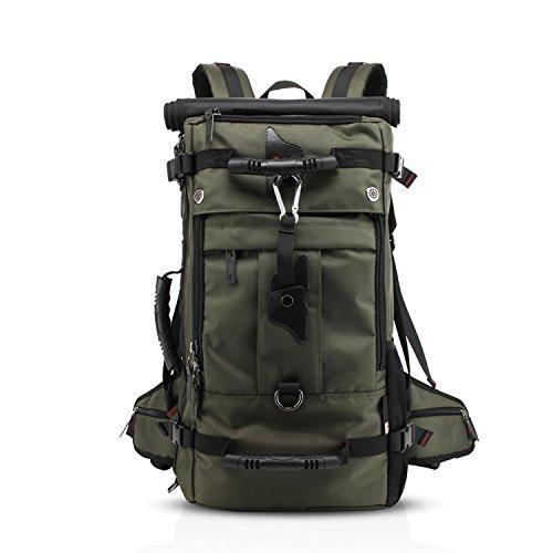 FANDARE Bergsteigen Rucksack Daypacks für 17 Zoll Laptop Wanderrucksäcke Fahrradrucksäcke für Herren Damen Arbeit Reisen Outdoor Camping Hohe Kapazität Wasserdicht Polyester Grün
