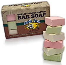 Amish Farms Handmade Bar Soap, Natural Ingredients, Cold Pressed, Carcinogen Free, 6 Ounce - 6 Pack Gift Box (6 Bars)
