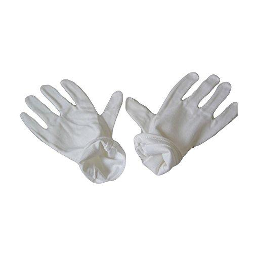 Kaavie Baumwollhandschuhe weiß weiß Large - 2 Pairs