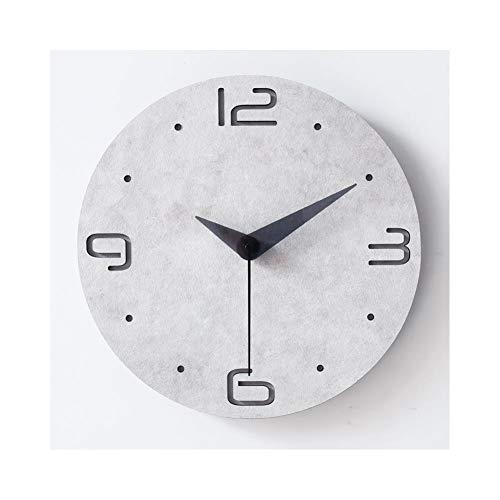 XMBT Reloj de Pared Vintage,Despertador Luminoso Mudo con Pantalla Digital Relojes de Cocina Relojes de Pared Funciona con Pilas Sin tictac Reloj de Pared silencioso Vintage sin tictac