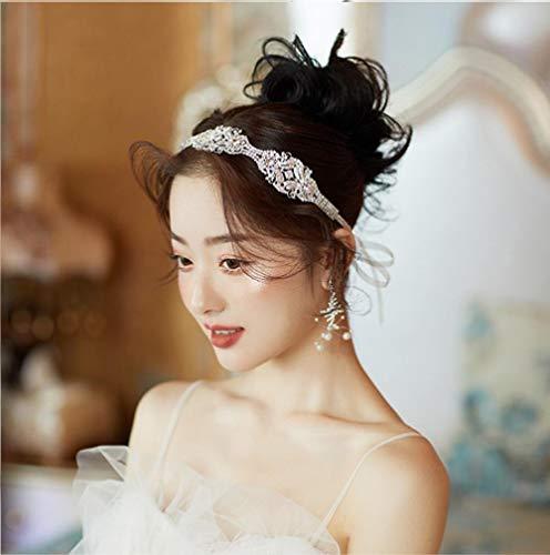 Zilveren Strass Haarband Delicate en Mooie Koreaanse Bruiloft Haaraccessoires Luxe Bruiloft Hoofdtooi Jurk Accessoires