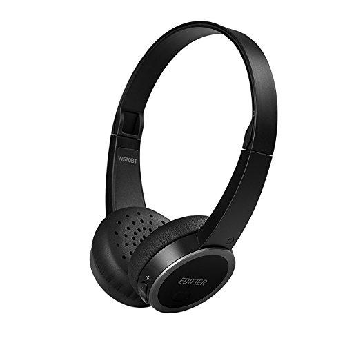 Edifier W570BT Bluetooth On-Ear Headphones - Lightweight Wireless Headset (Black)