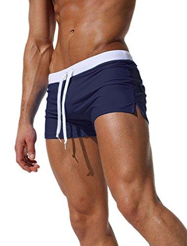 Ateid Costume da Bagno Boxer da Nuoto Uomo Blu Scuro M