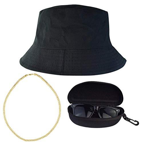 Miayon Hip-Hop-Kostüm, 80er und 90er Jahre, Cooler Stil, Hip Hop Outfits, Herren, schwarz, Large