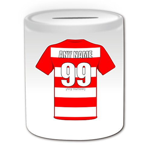 UNIGIFT Personalised Gift - Hamilton Academical Money Box (Football Design Theme, White) - Any Name/Message on Your Unique Piggy Bank Saving Jar Pot - The Accies Club