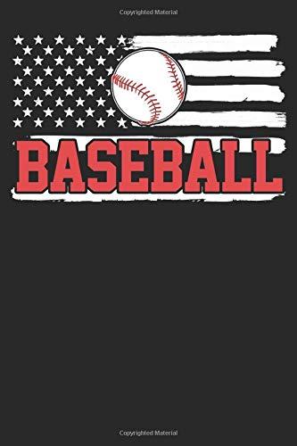 Baseball Player USA American Flag 4th Of July Notebook: Baseball