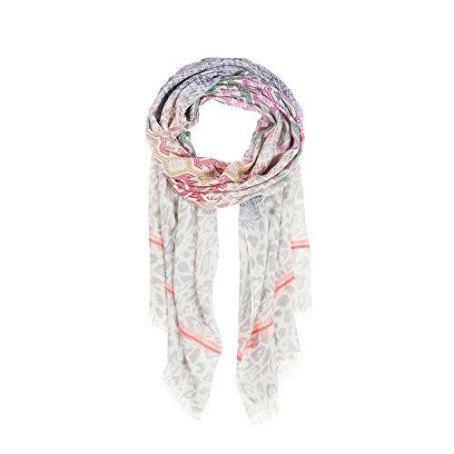 CODELLO Softer Schal Ethno & Neon Stripes Weiß