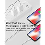 iPhone Fast Charger, [Apple MFi Certified] 20W PD USB C Wall Charger Power Adapter with 6FT Type C to Lightning Cable Compatible iPhone 12/12 Mini/12Pro/12 Pro Max/11/11 Pro Max/Xs Max/XR/X and More