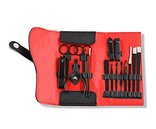 Nail Nippers Pédicure en Acier Inoxydable Coupe-Ongles Set manucure cuticules Pince à épiler Beauty Tool Kit 15 Pieces 8bayfa