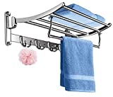 FORTUNE Classic Stainless Steel Folding Towel Rack for Bathroom   Towel Stand   Towel Hanger   Bathroom Accessories (18 Inch)