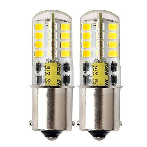 LumenTY 2 ampoules LED B15 AC/DC 12 V Ba15s 300 lumens 3 W - Blanc chaud 3000 K-30 W Équivalents à une lampe halogène de rechange pour voiture, camping-car - Feu de freinage intérieur et feu de recul