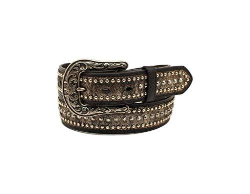Ariat Metallic Rhinestones Buckle Belt Black XL (42' Waist)
